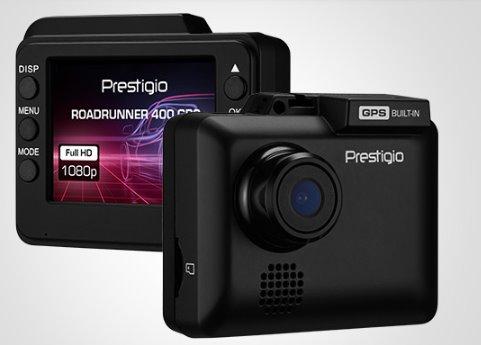 "Prestigio Car Video Roadrunner 400 GPS, Recording FHD 1920x1080@30fps, Displej 2"" 480x240, Micro SD/SDHC up to 32 GB"