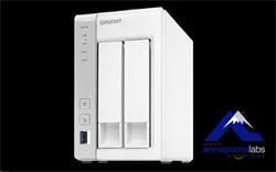 QNAP™ TS-231P2-4G 2 Bay NAS, 3.5, Alpine AL-314, 4-core, 1.7GHz, 4GB DDR3 RAM, EU Edition