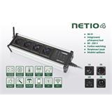 Rozvodný panel NETIO-4 4x230V s manag.WiFi, plánovač, watchdog, atd., strieborne provedení