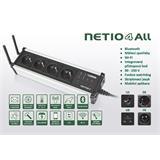 Rozvodný panel NETIO-4 ALL 4x230V s manag.WiFi, Bluetooth, měření spotřeby, plánovač, watchdog, atd.,Strieborne proveden