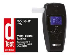 Solight alkohol tester profi, 0,0 - 3,0‰ BAC, citlivosť 0,1‰, farebný displej, automatické čistenie
