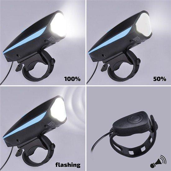 Solight LED nabíjacie cyklo svetlo, 250lm, klaksón, Li-ion
