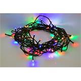 Solight LED vianočná reťaz, 60 LED, 10m, prívod 3m, 8 funkcií, IP20, viacfarebný