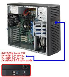 Supermicro® CSE-732D4F-903B Tower WhisperQuite