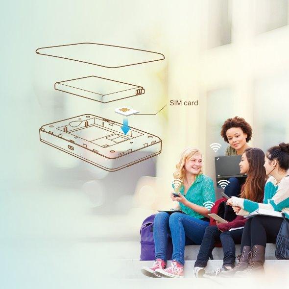 TP-LINK M7350 150Mbps 4G LTE Mobile Wi-Fi, Qualcomm, LTE-FDD/DC-HSPA+/HSPA/UMTS/EDGE/GPRS/GSM, N300 Wi-Fi