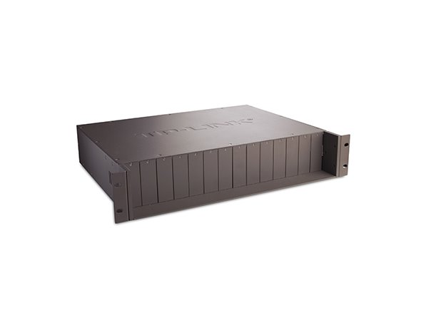 TP-LINK TL-MC1400 14-slot Media Converter Chassis, Supports Redundant Power Supply, with One AC Power Supply Preinstalled