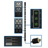 TrippLite 3Phase Metered PDU, 11.5 kW, 45 240/230/220V outlets (36 C13, 9 C19), NEMA L22-20P 415/400/380V input, 0U vert