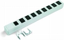 """TRITON 19"""" rozvodný panel 8x230V, IEC norma, bez prívodu, vč. vaničky"""
