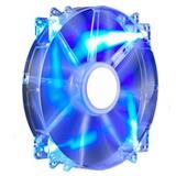 ventilátor Coolermaster 200x200x30 Mega Flow, LED modrá transparent 19dBA