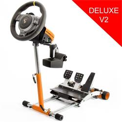 Wheel Stand Pro DELUXE V2, stojan na volant a pedály pre Porsche GT2 /CSR /CSP wheels oranžový