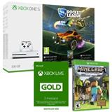 XBOX ONE S 500GB Rocket League + Minecraft Favorites Pack + 3 mesiace Live Gold